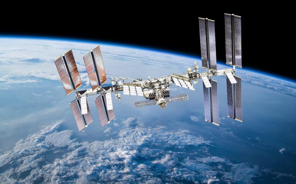 International space station on orbit of Earth planet(Dima Zel)S