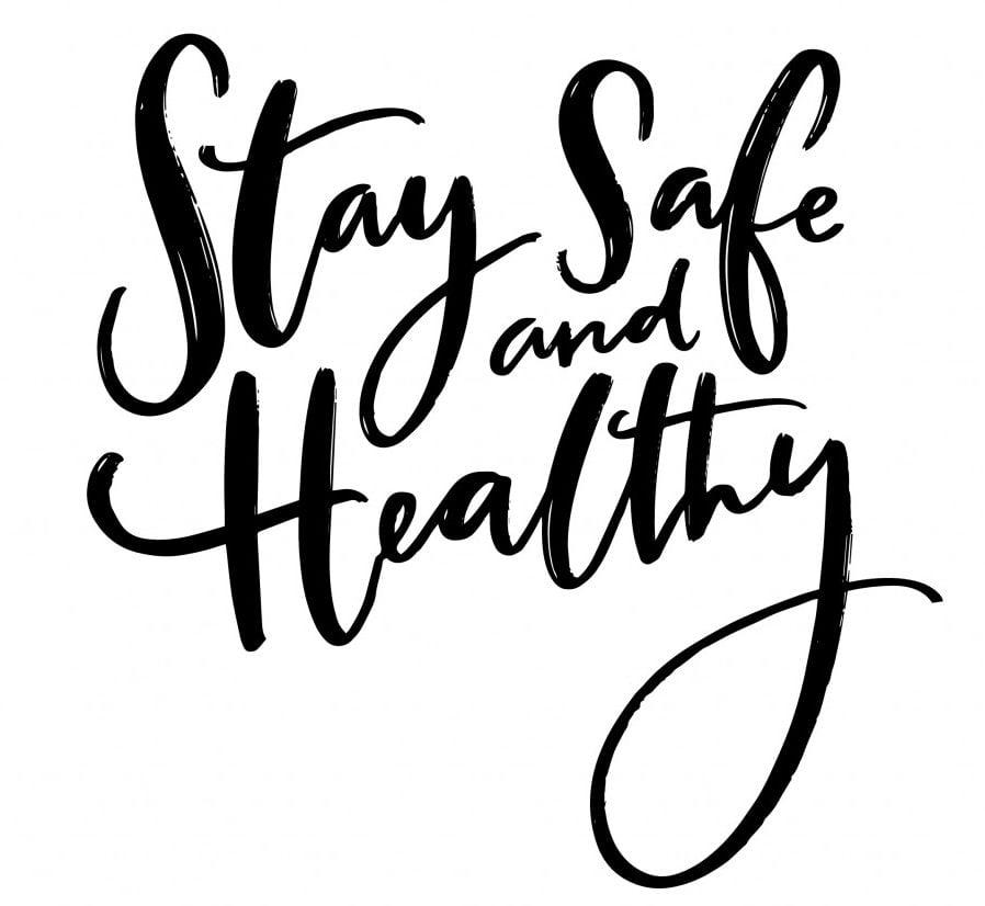 Stay safe and healthy. Handwritten wish of taking care(Anna Kutukova)s