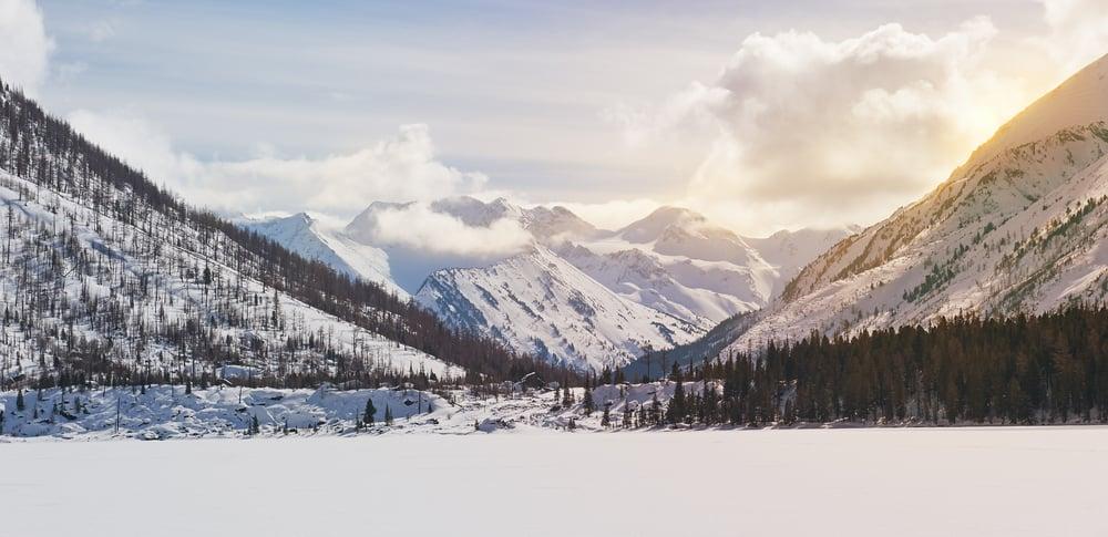 Beautiful winter landscape,the harsh, cold winter Altai(YURY TARANIK)s