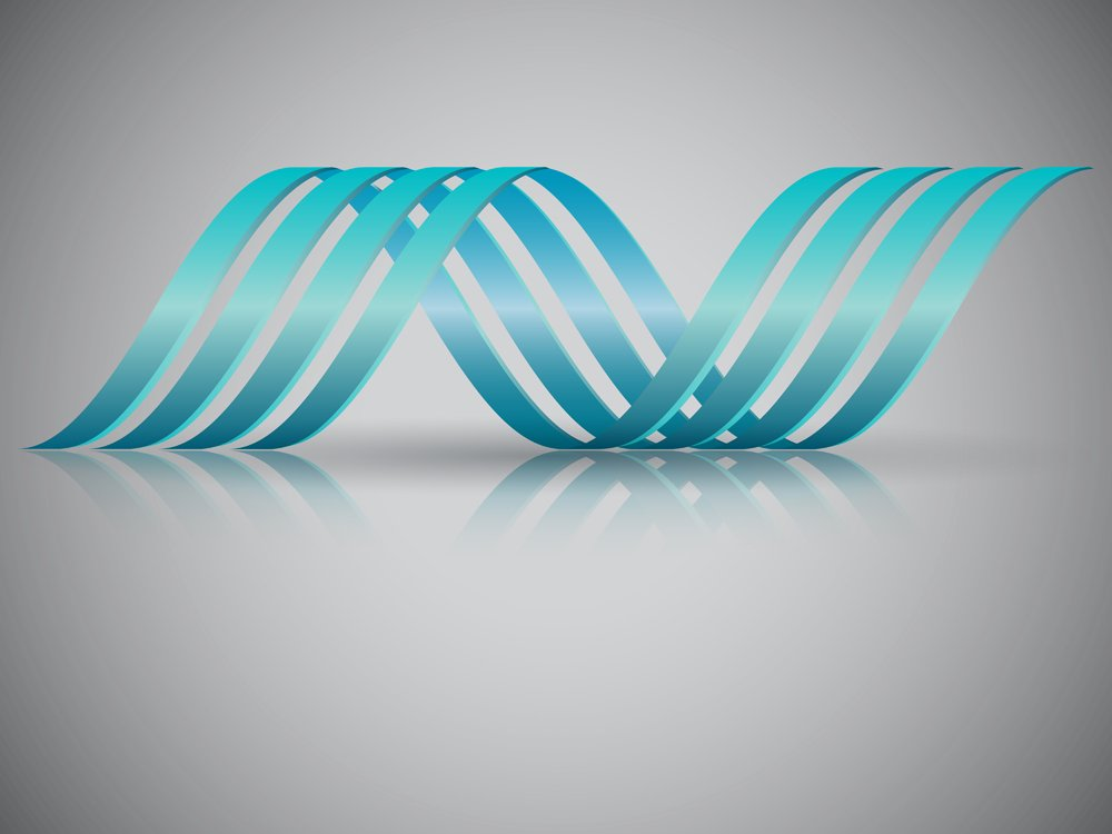 Double helix vector illustration which resembles a DNA string. EPS10 file with reflections(Levente Naghi)S
