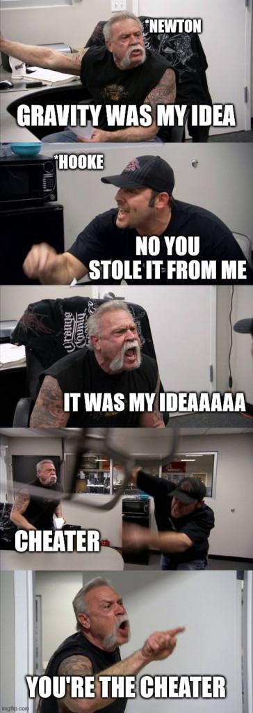 GRAVITY WAS MY IDEA meme