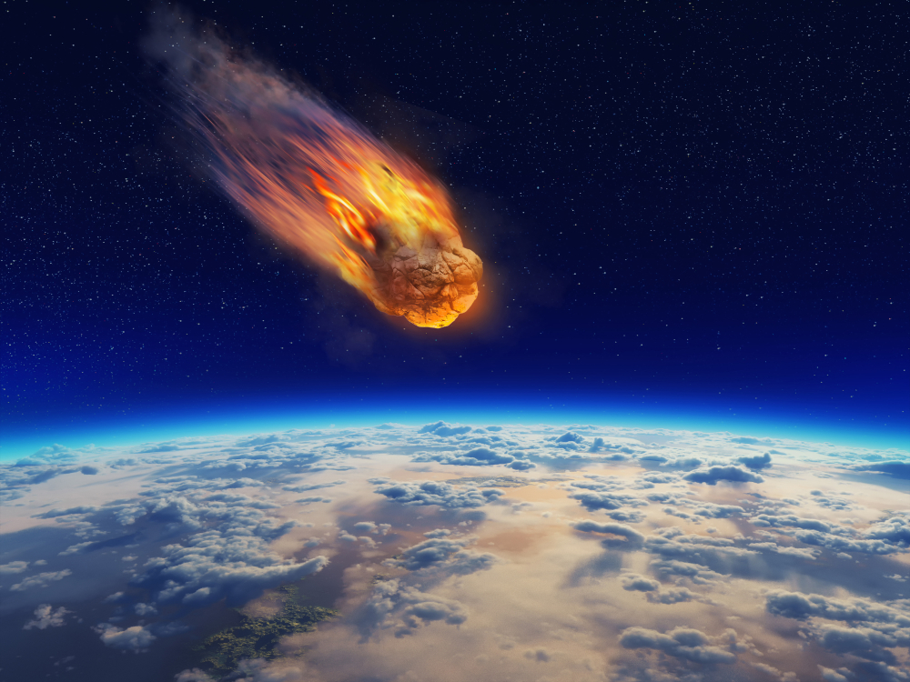 Meteor falling to planet earth(Orla)S