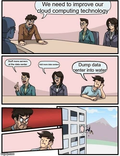We need to improve our cloud computing technology meme