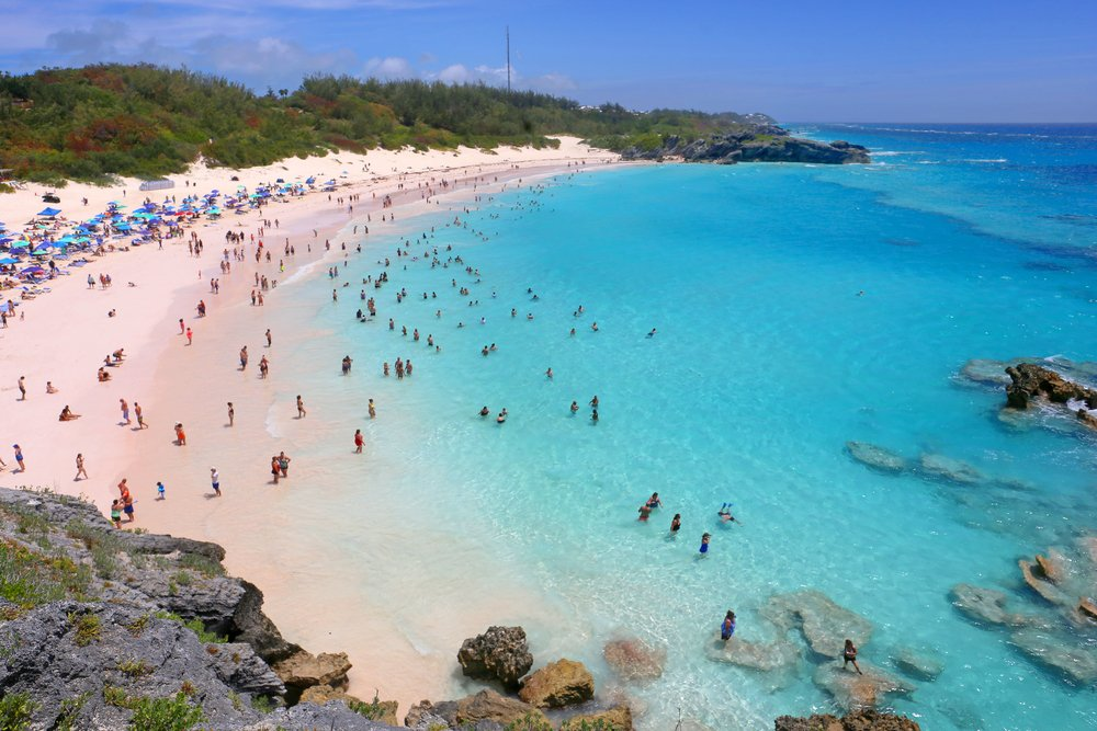 A scenic view of Horseshoe Bay Beach in Bermuda(Alexander Sviridov)s