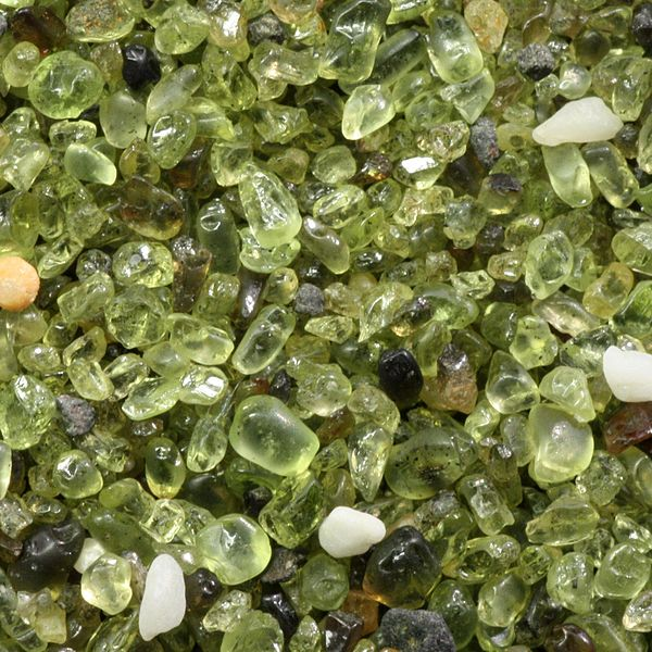 Olivine sand from Hawaii Island