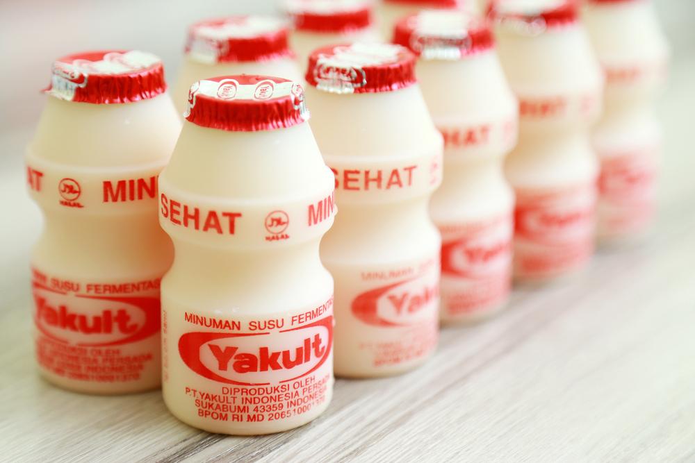 Yakult the Lactobacillus Yogurt on the table(Dhodi Syailendra)S