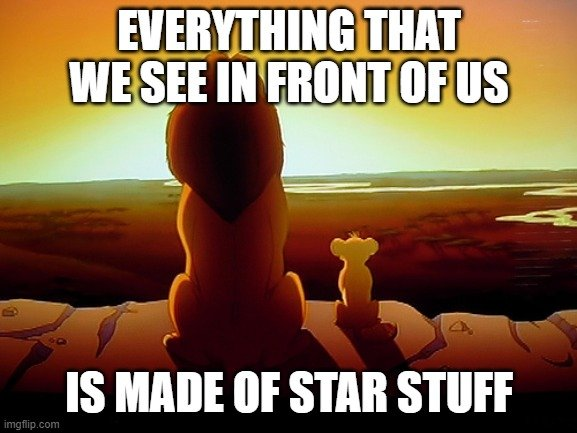 EVERYTHING THAT WE SEE IN FRONT OF US; IS MADE OF STAR STUFF