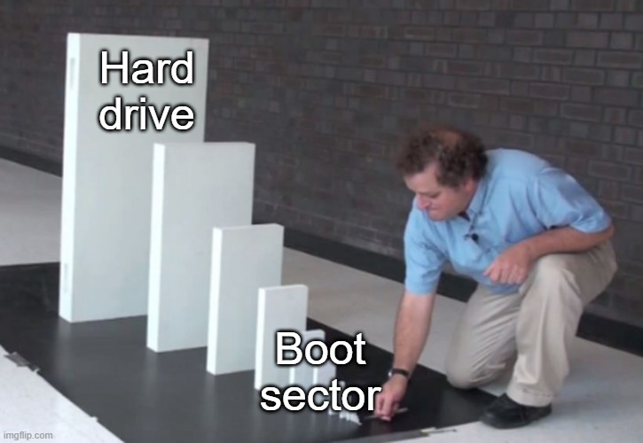 Hard drive; Boot sector meme