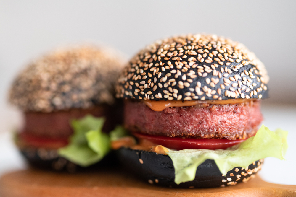Домашний, Бургер, С, На растительной основе, Мясо