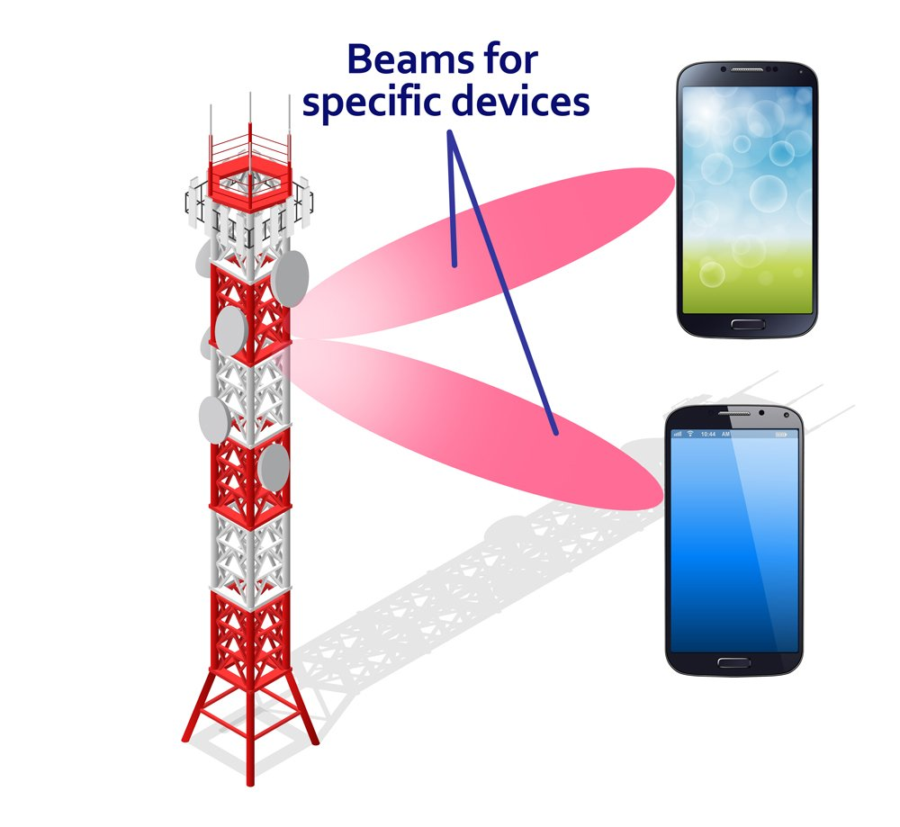 Communications Tower Mobile Phone Base or Radio for Wireless Connections Isometric View.