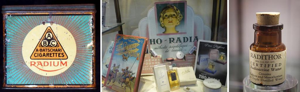 Radium laced cigarettes & Radium based cosmetics & Radium infused water
