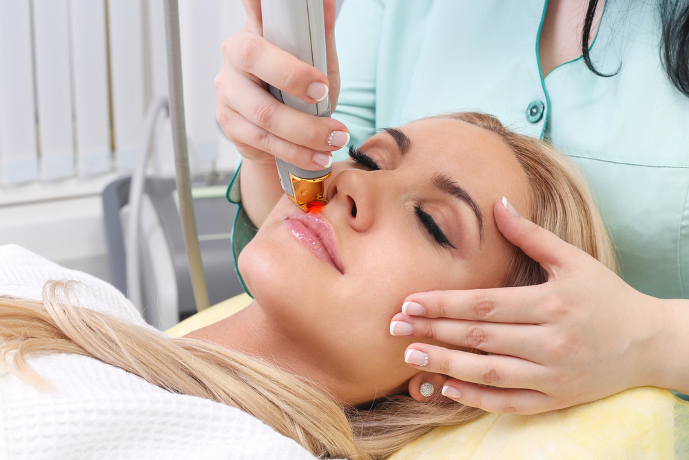 Woman,Having,Facial,Hair,Removal,Laser.