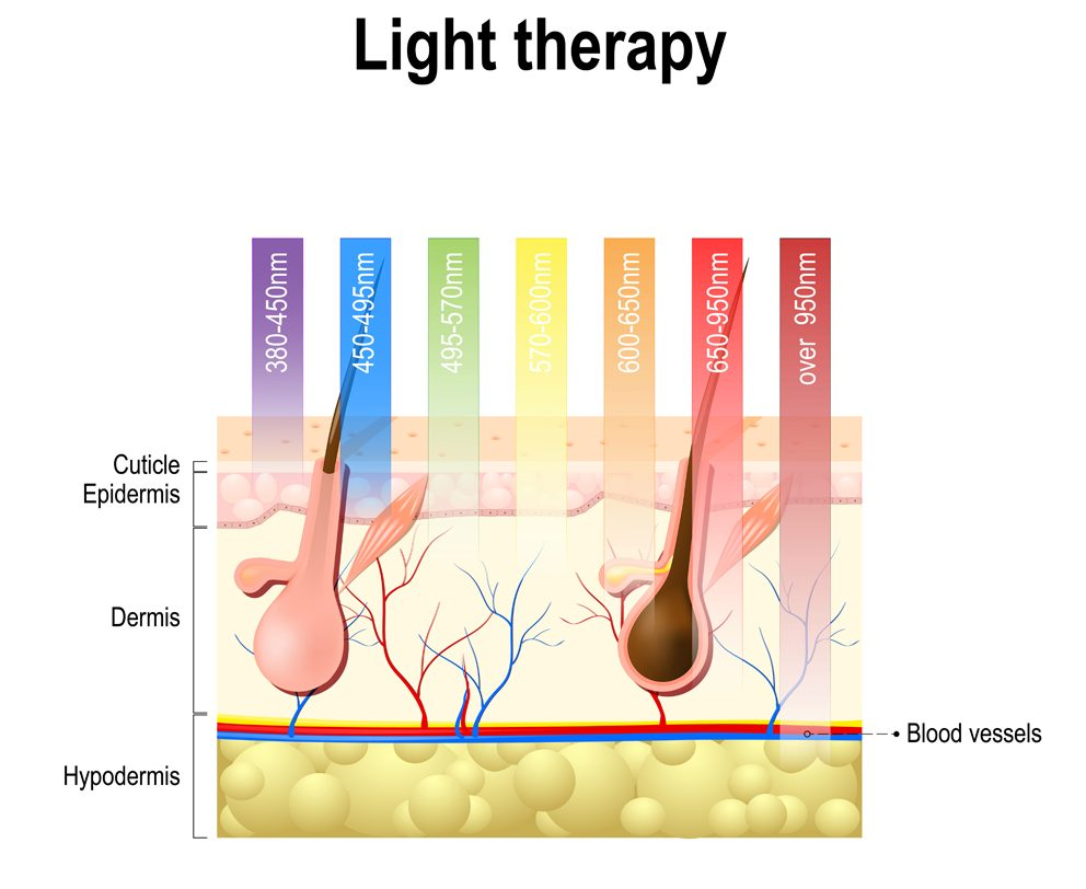 Light,Therapy,,Phototherapy,Or,Laser,Therapy.,Electromagnetic,Spectrum,With,Colors
