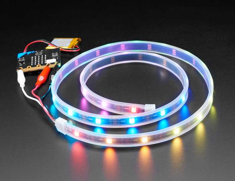 LED lights are connected to drivers that convert AC to DC