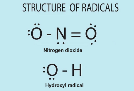Structure of free radicals.