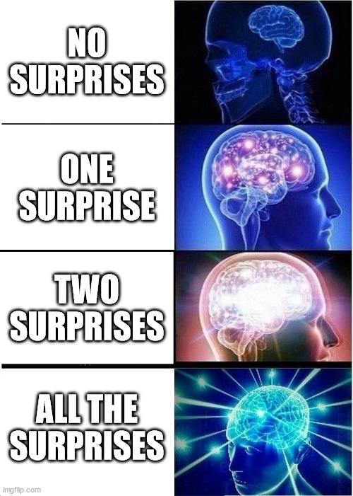 NO SURPRISES meme