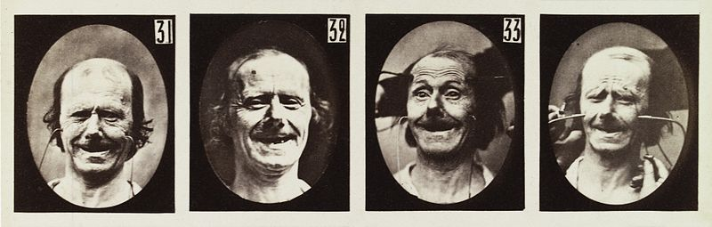 Four images of experiment on the electro-physiological Wellcome