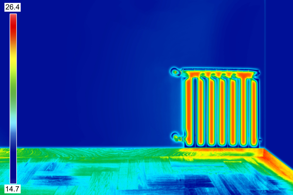 Infrared,Thermal,Image,Of,Radiator,Heater,In,Room