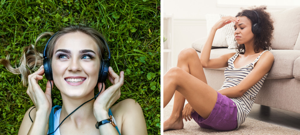 Music is commonly labeled by listeners as either happy or sad