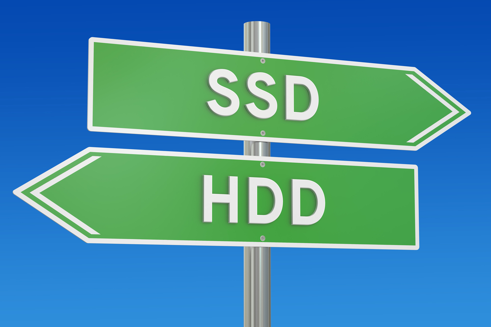 Ssd,Vs,Hdd,Concept,,3d,Rendering,Isolated,On,White,Background