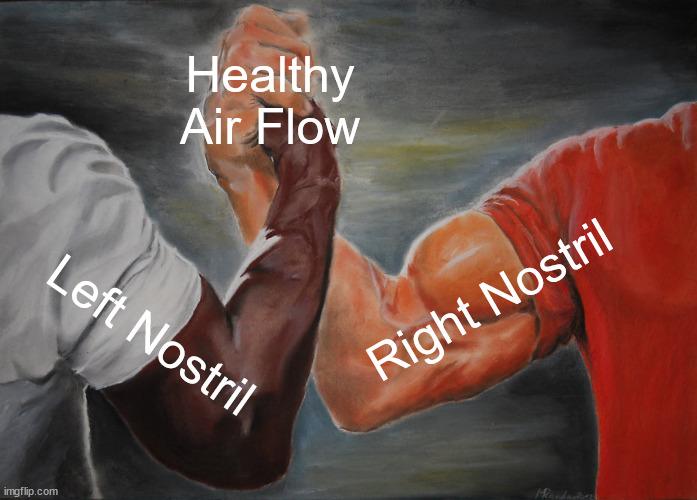 Healthy Air Flow; Right Nostril; Left Nostril