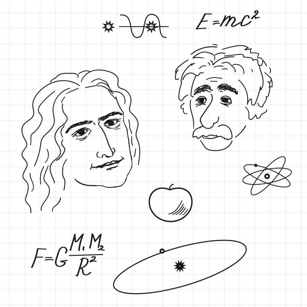 Newton and Einstein discovery