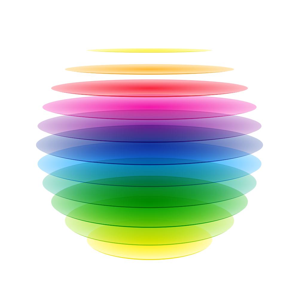 Rainbow,Sphere.,Vector.