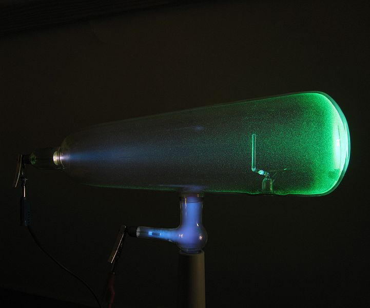 Crookes tube-in use-lateral view