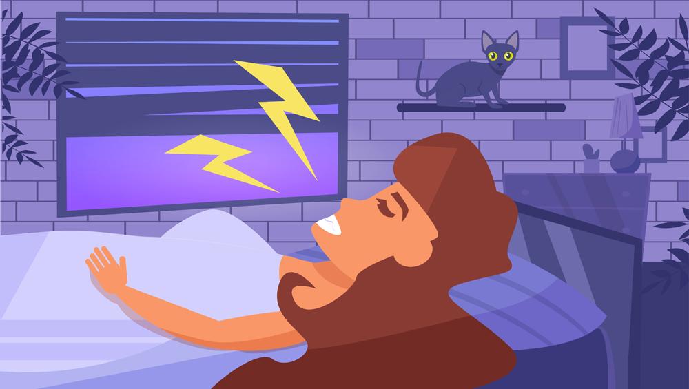 Woman sleeps Vector. Cartoon. Isolated art. Flat